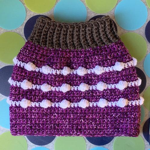 Size M - Dog Sweater Vest - Grape Fizz