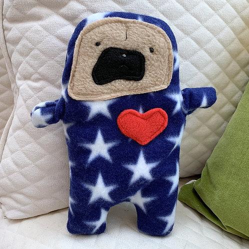 Star - The Patriotic Pug-Jama Bummlie ~ Stuffing Free Dog Toy