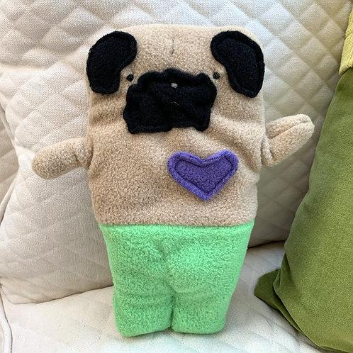 Sandy ~ The Mer-Pug Bummlie ~ Stuffing Free Dog Toy
