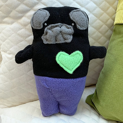 Seamus ~ The Mer-Pug Bummlie ~ Stuffing Free Dog Toy
