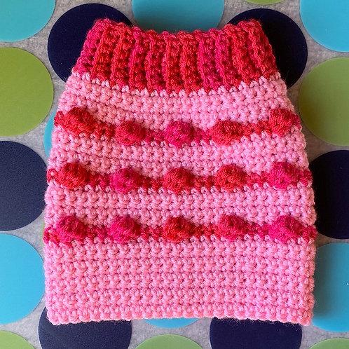 Size XS - Dog Sweater Vest - Pink Bubble Gum