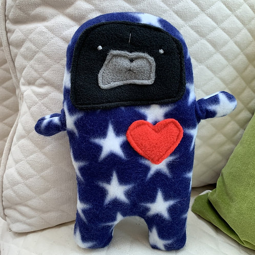 Spangle - The Patriotic Pug-Jama Bummlie ~ Stuffing Free Dog Toy
