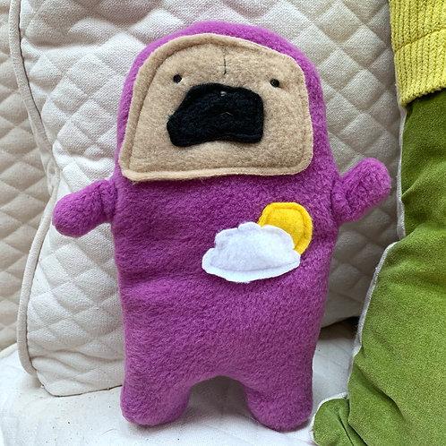Weather Pug Archie - The Pug-Jama Bummlie ~ Stuffing Free Dog Toy