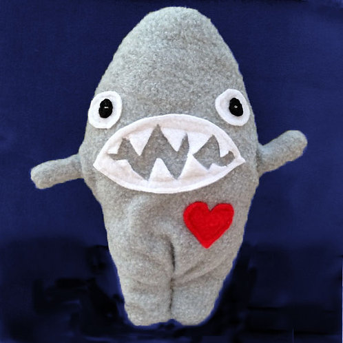 Sloan ~ The Shark Bummlie ~ Stuffing Free Dog Toy