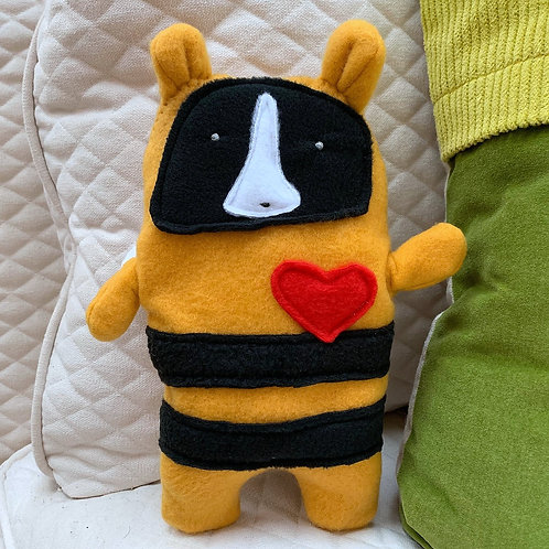Fleur ~ The Boston Terrier Bee Bummlie ~ Stuffing Free Dog Toy