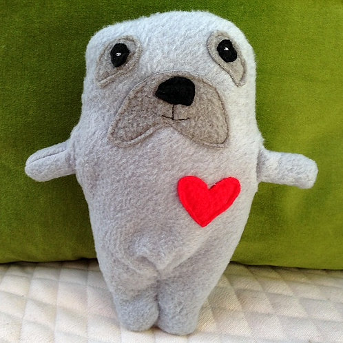 Celie ~ The Seal Bummlie ~ Stuffing Free Dog Toy