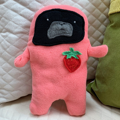 Jelly - The Strawberry Patch Pug-Jama Bummlie ~ Stuffing Free Dog Toy