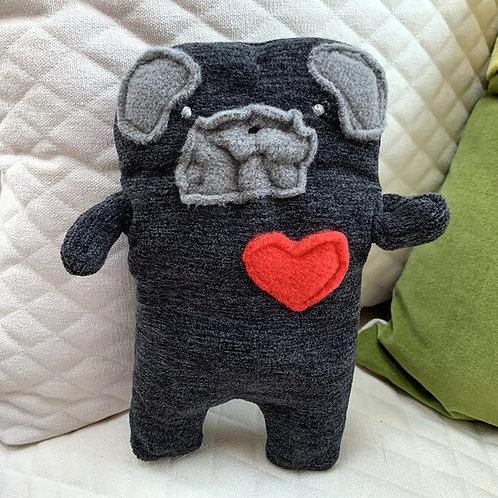 Burt ~ The Brindle Pug Bummlie ~ Stuffing Free Dog Toy