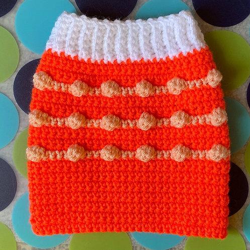 Size S - Dog Sweater Vest - Orange Creamsicle