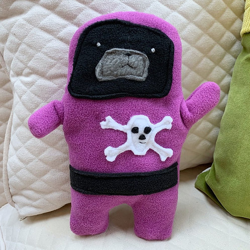 Pirate Polly - The Pug-Jama Bummlie ~ Stuffing Free Dog Toy