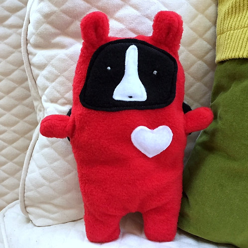 Mimi ~ The Lady Bug Boston Terrier Bummlie ~ Stuffing Free Dog Toy - Love Bug