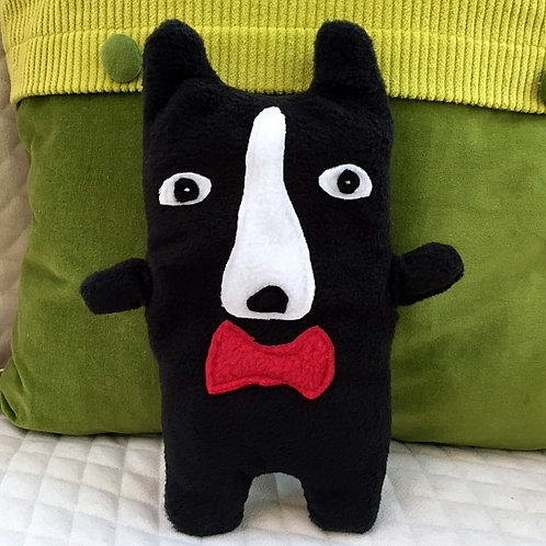 Wilson ~ The Boston Terrier Bow Tie Bummlie ~ Stuffing Free Dog Toy