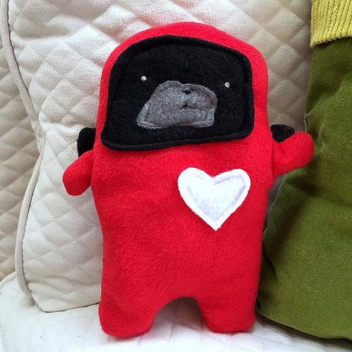 Gwen ~ The Lady Bug Pug Bummlie ~ Stuffing Free Dog Toy - Love Bug