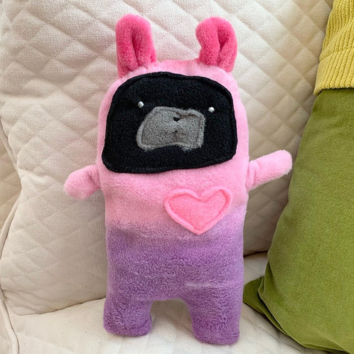 Cuppy ~ The Pug Bunny Bummlie ~ Stuffing Free Dog Toy
