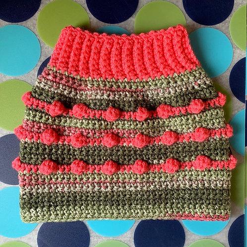 Size M - Dog Sweater Vest - Wasabi & Pickled Ginger