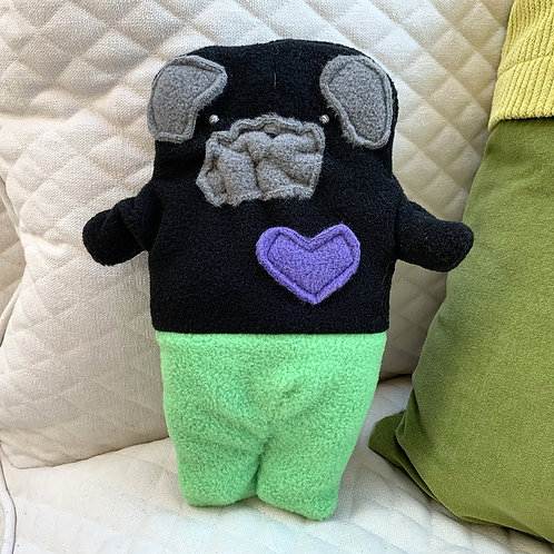 Shelly ~ The Mer-Pug Bummlie ~ Stuffing Free Dog Toy