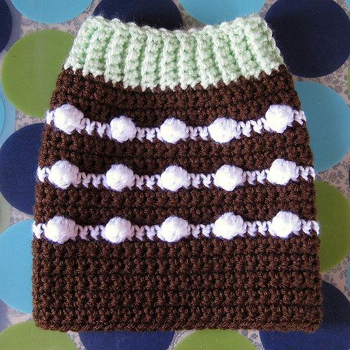 Size XS - Dog Sweater Vest - Chocolate Mint Cupcake
