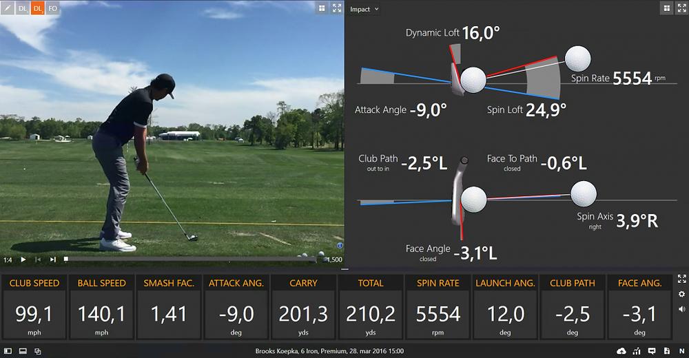 PGA Tour Pro, PGA Tour, Trackman golf, launch monitors, hitting shots at the practice range,
