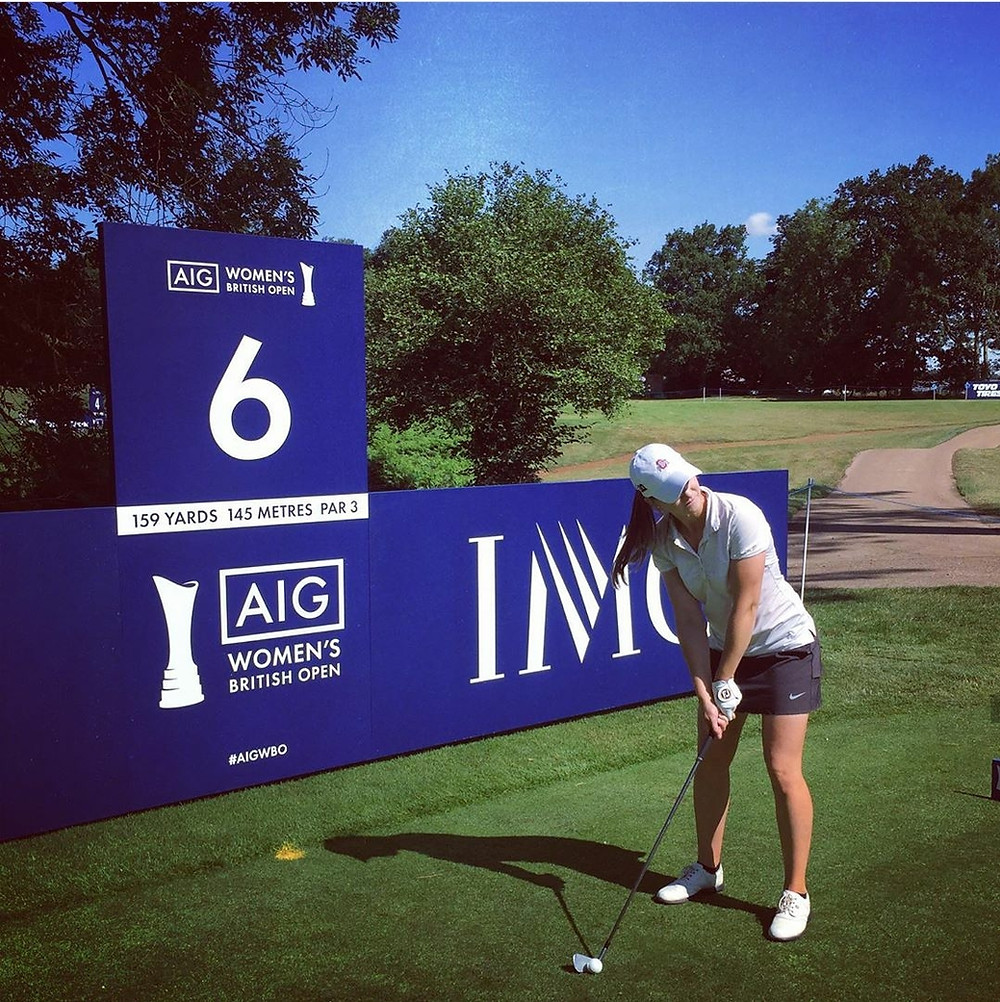 katja pogacar, swinging, driver, golf, women'ss british open golf, AIG insurance,