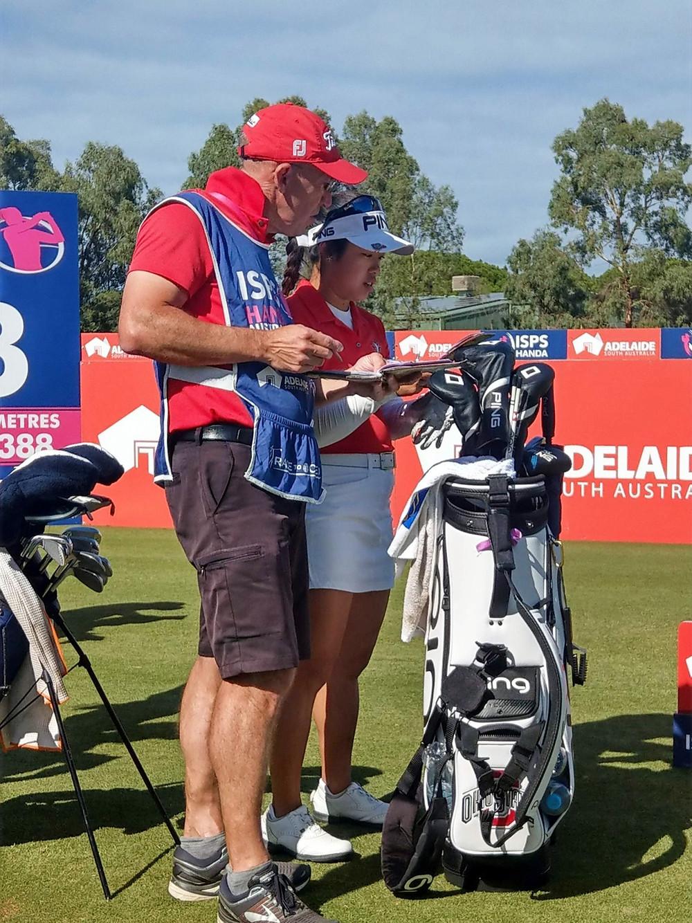 LPGA golfer Jaclyn Lee of Canada, on the tee box at the ISPS Handa Women's Australia Open golf