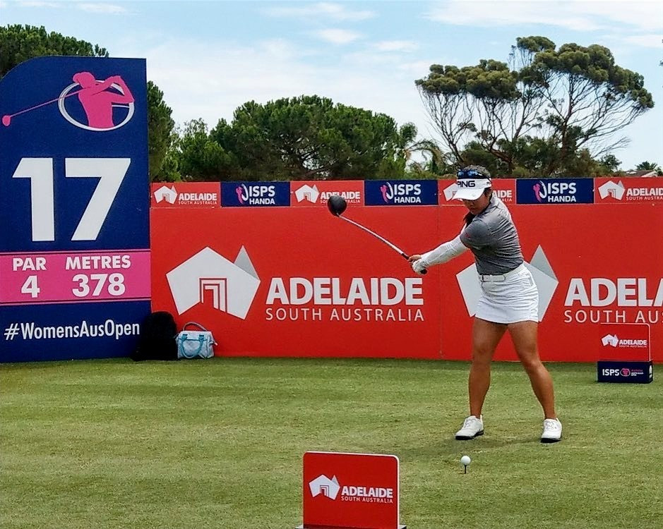 ISPS Handa Women's Australian Open Golf Tournament with Jaclyn Lee Canadian golf professional, PING, Adelaide, South Australia, LPGA