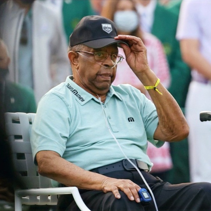 The First African American to compete in the Masters was honoured at this year's edition