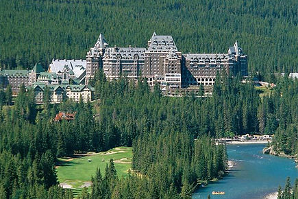 Banff Springs Castle from the golf cours