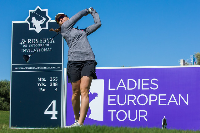 Tee box, katja pogacar, Ladies European Tour golf, driver, tee shot, LPGA