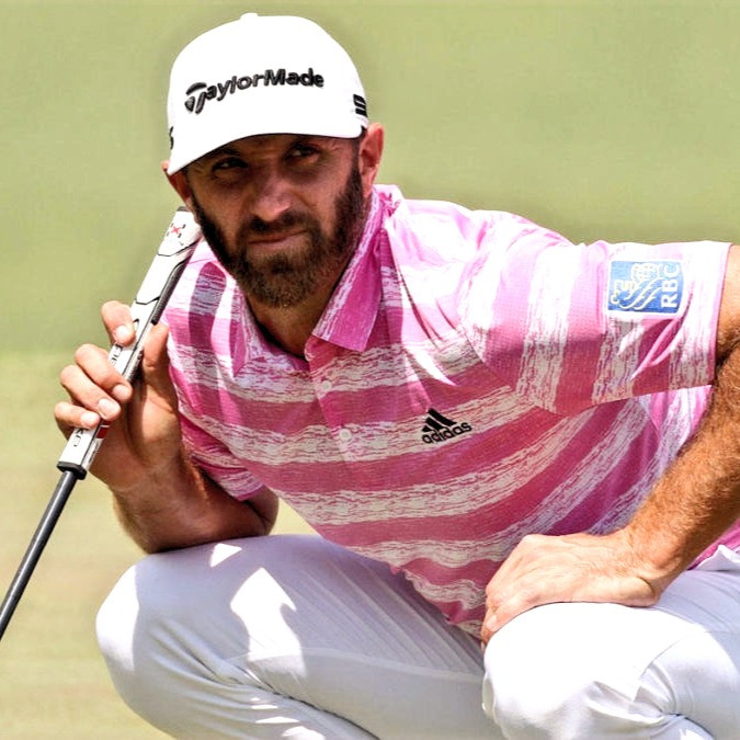 Bogeys plagued Dustin Johnson today on Day Two of the 2021 Masters