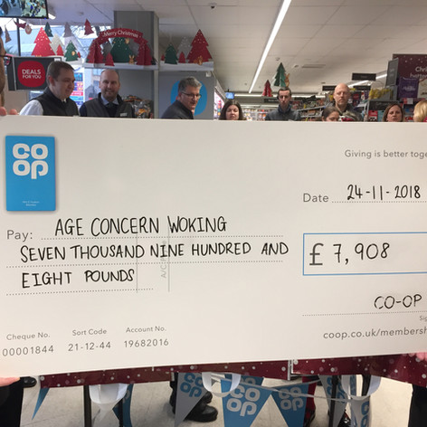 We thank the Co-Op for their generous donation in Nov 2018