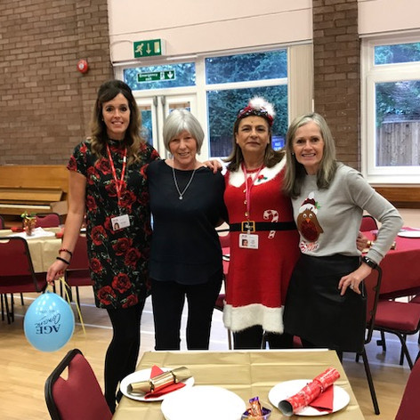 The staff prepare for WAC's Christmas Party 2018
