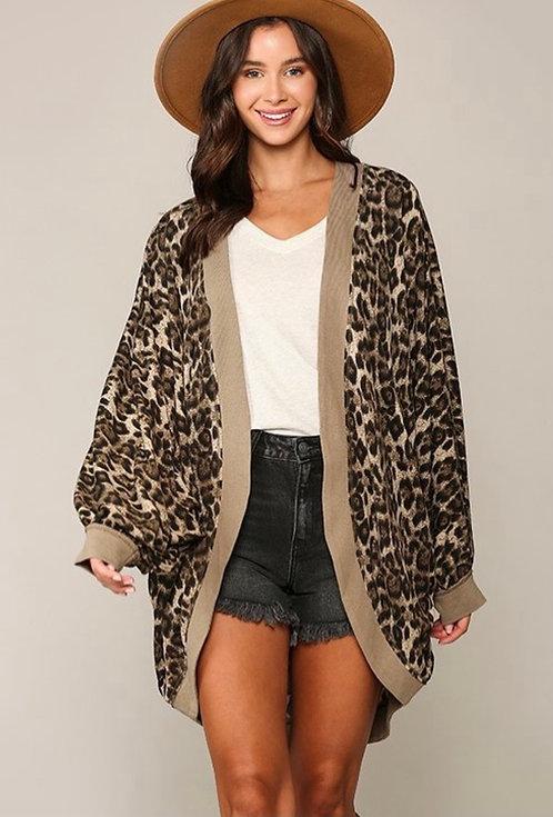 Cheetah Print Cocoon Kimono