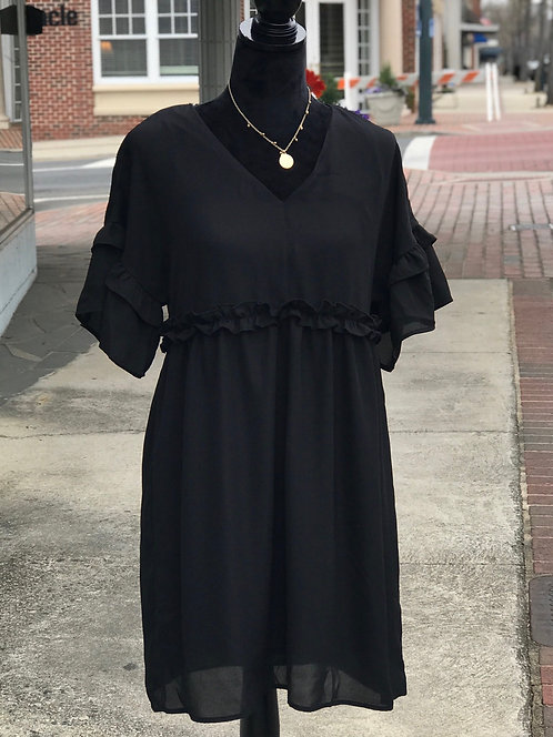 Little Black Gauzy Dress