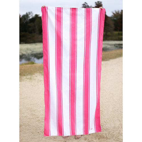 Saint Augustine Beach Towel in Hot Pink