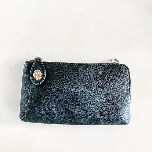Buckle Clutch Crossbody - Black