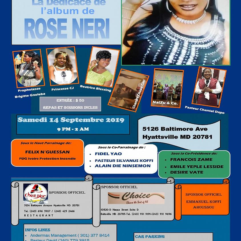 Dedicace de l'album de Rose Neri