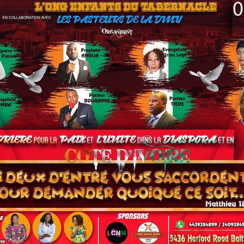 Soirée de prières pour la paix et l'unité en Côte d'Ivoire