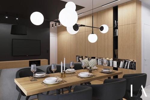 Salon z aneksem LIBRA Architekci