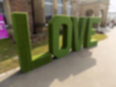 LOVE Grass Letters