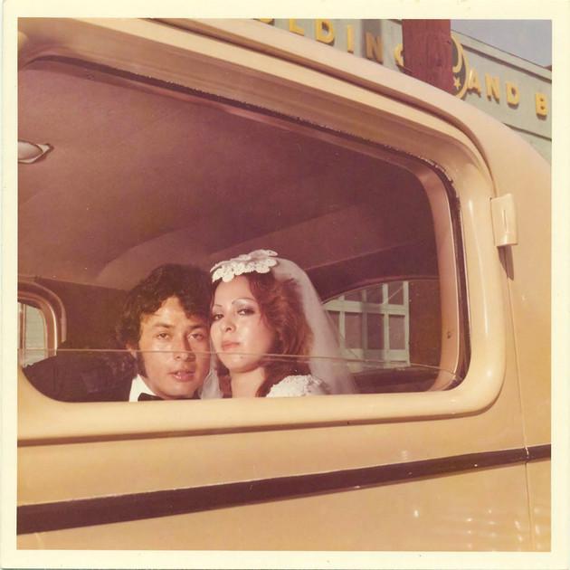 Fernando and Gloria Ruelas, Dukes Car Club, Los Angeles,1974