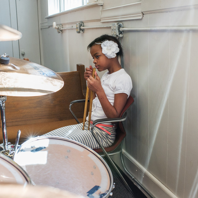 Nyema with drums