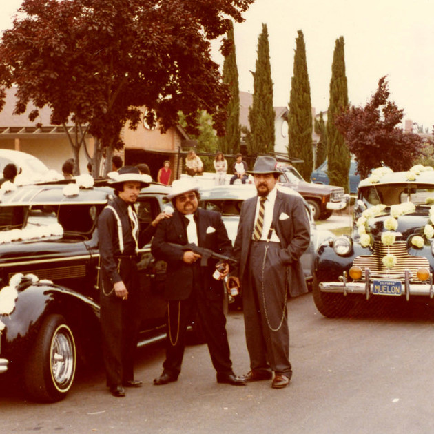 Jeanette and Simon's wedding, Untouchables Car Club, Oxnard, 1979