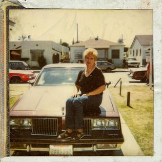 Martha and her Oldsmobile Cutlass, Huntington Park, 1987