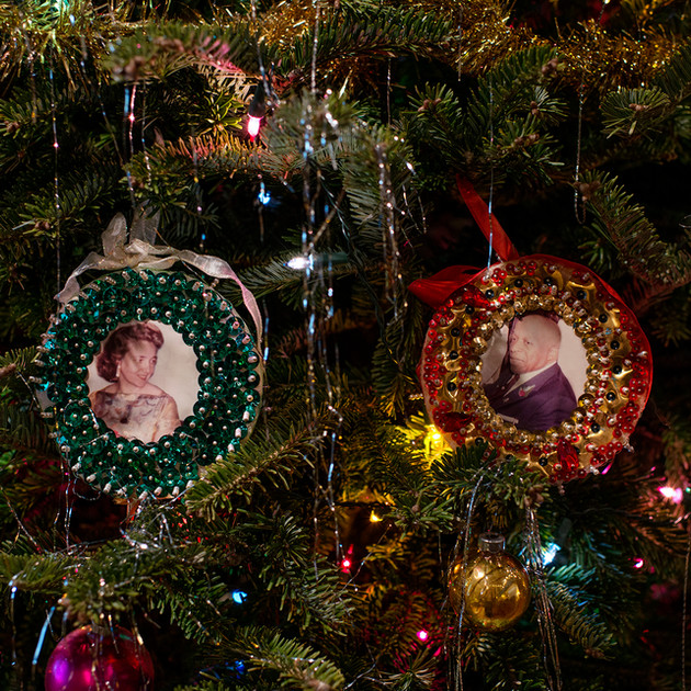 Mother and Father Divine Ornaments