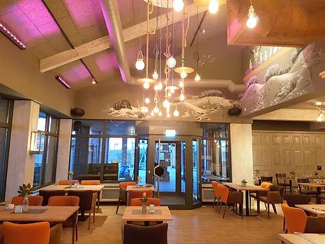 Restaurant Beleuchtung, Restarant Beschallung, Bar Beleuchtung, LED Installation