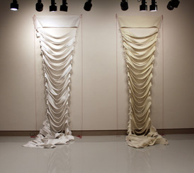 Overwhelmed - parts 1&2, Cotton, polyester, 15' x 11' x 3'