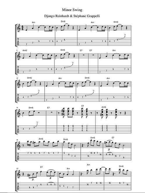 Minor Swing (1937) by Django Reinhardt & Stéphane Grappelli - Guitar Tab