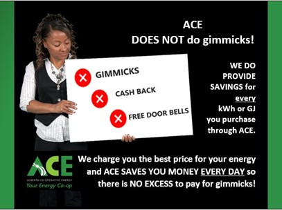ACE does NOT do GIMMICKS!