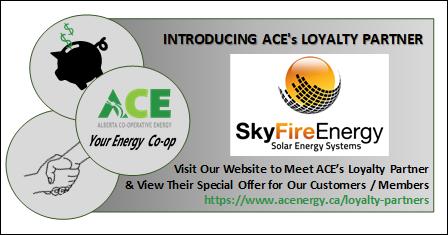 SkyFire Energy Inc - ACE's Loyalty Partner