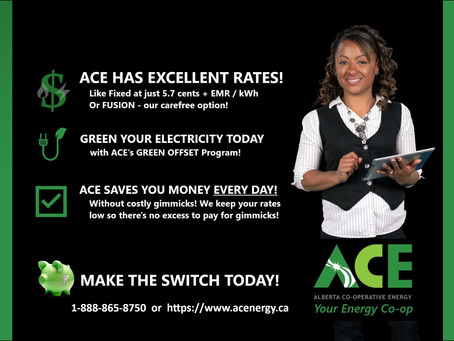 High Energy Costs? ACE Has Great Rates!!